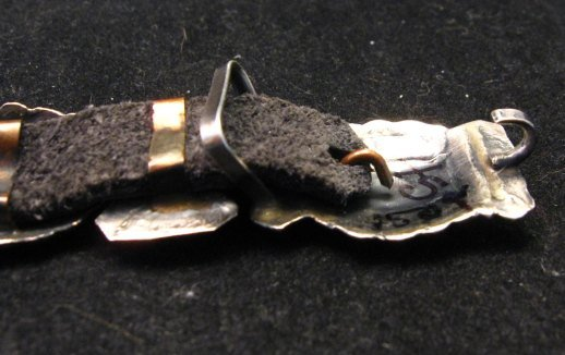 Image 4 of Dead Pawn Navajo Sterling Silver Stamped Concho Bracelet