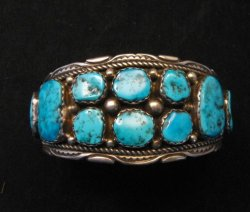 Quality Dead Pawn Native American Navajo Turquoise Cuff Bracelet