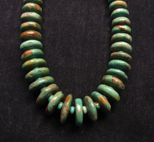 Image 0 of Navajo Turquoise Bead Necklace by Everett & Mary Teller