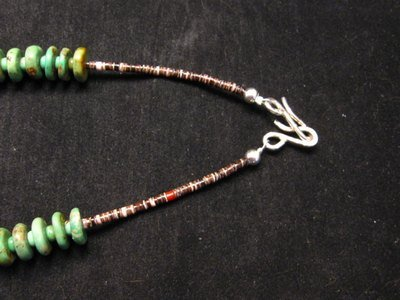 Image 4 of Navajo Turquoise Bead Necklace by Everett & Mary Teller