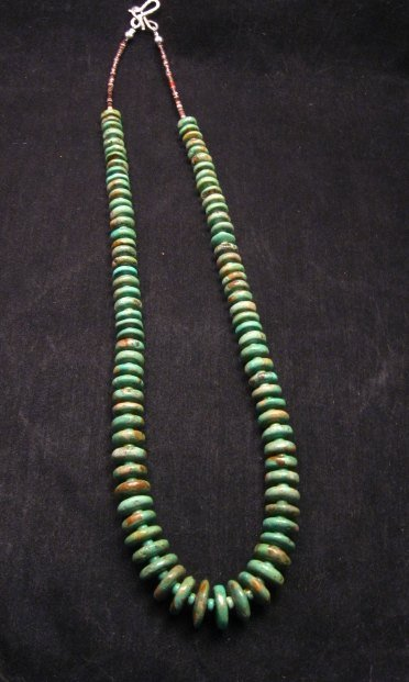 Image 6 of Navajo Turquoise Bead Necklace by Everett & Mary Teller