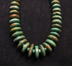 Navajo Turquoise Bead Necklace by Everett & Mary Teller