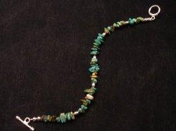 Everett & Mary Teller Navajo Turquoise Nugget Bead Bracelet