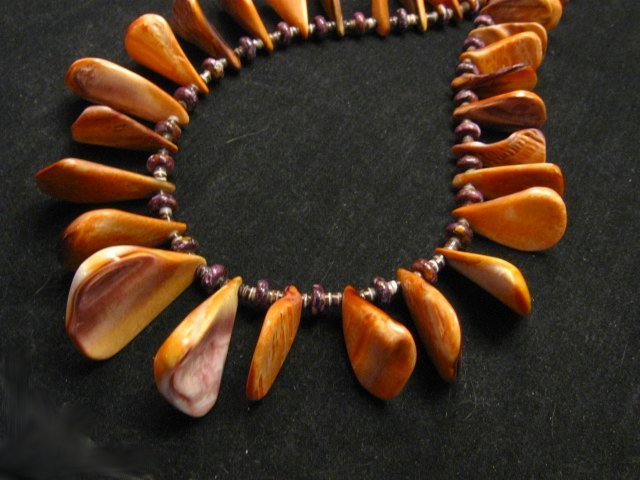 Image 4 of Unique Everett & Mary Teller Navajo Lions Paw Shell Necklace