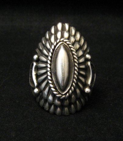 Image 0 of Navajo Harry H Begay Sterling Silver Ring sz10-1/4