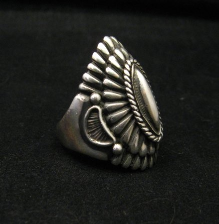 Image 1 of Navajo Harry H Begay Sterling Silver Ring sz10-1/4