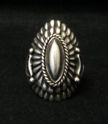 Navajo Harry H Begay Sterling Silver Ring sz10-1/4
