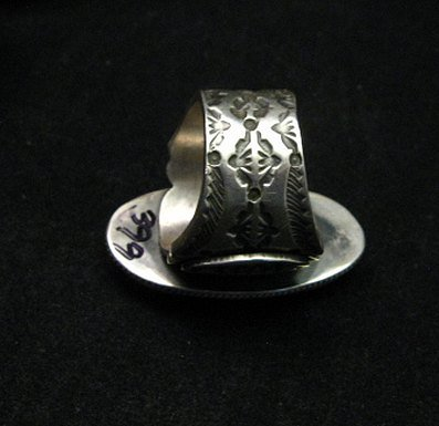 Image 3 of Bo Reeves Navajo Old Pawn Style Pilot Mtn Turquoise Ring sz7-1/2