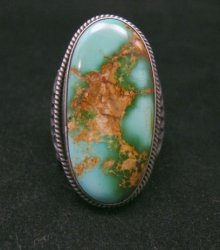 Bo Reeves Navajo Old Pawn Style Pilot Mtn Turquoise Ring sz7-1/2