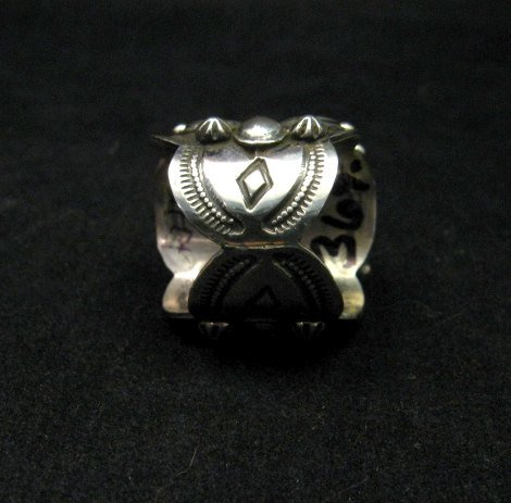 Image 4 of Navajo Native American Turquoise Silver Ring by Richard Jim sz8
