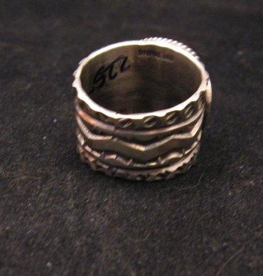 Image 4 of Navajo Native American Sunshine Reeves Kingman Turquoise Ring sz9-1/2