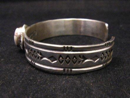 Image 2 of Narrow Navajo Wild Horse Sterling Silver Bracelet, Darrell Cadman