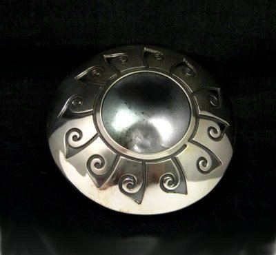Image 0 of Navajo Native American Sterling Silver Seed Pot, Everett & Mary Teller