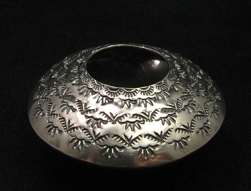 Image 0 of Navajo Stamped Sterling Silver Seed Pot, Everett & Mary Teller