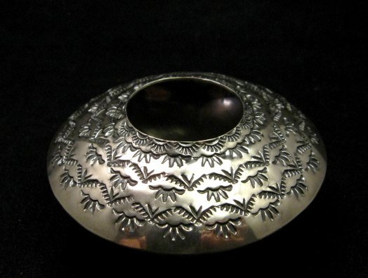Image 3 of Navajo Stamped Sterling Silver Seed Pot, Everett & Mary Teller