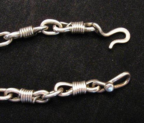 Image 5 of Vintage Navajo Dinosaur Bone Sterling Silver Necklace, Orville Tsinnie