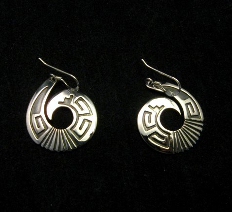 Image 0 of Everett & Mary Teller Navajo Sterling Silver Curly-Q Earrings