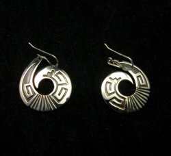 Everett & Mary Teller Navajo Sterling Silver Curly-Q Earrings