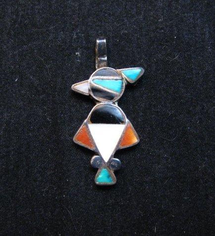 Image 0 of Vintage Native American Zuni Inlay Thunderbird Pendant / Charm