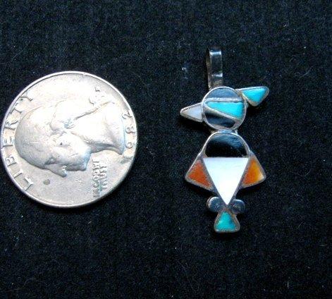 Image 1 of Vintage Native American Zuni Inlay Thunderbird Pendant / Charm