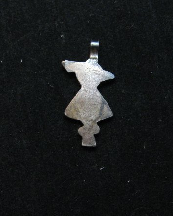 Image 2 of Vintage Native American Zuni Inlay Thunderbird Pendant / Charm