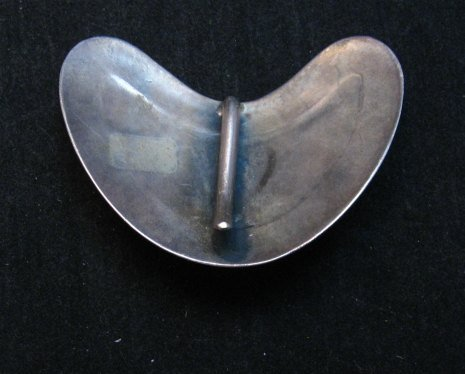 Image 2 of Vintage Navajo Native American Silver Turquoise Hair Clip or Collar Clip