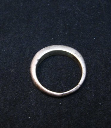 Image 2 of Skinny Vintage Native American Turquoise Inlay Ring sz8