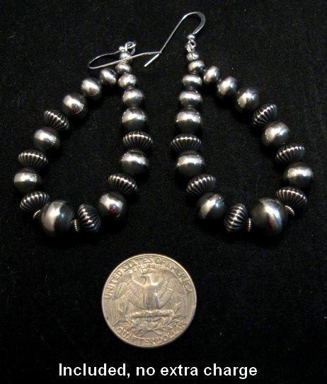 Image 8 of Darryl Becenti Navajo Native American Silver Squash Blossom Necklace Set