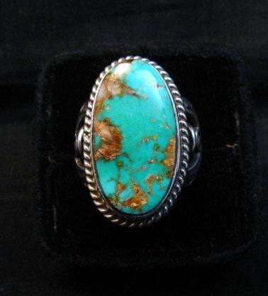 Image 0 of Albert Jake Navajo Native American Royston Turquoise Ring sz8-3/4