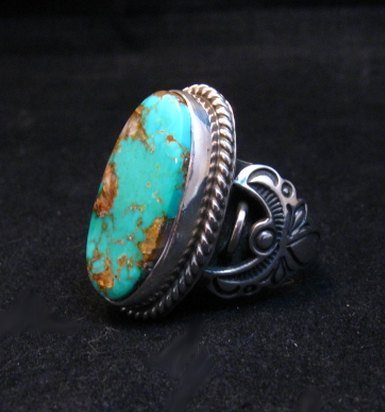 Image 1 of Albert Jake Navajo Native American Royston Turquoise Ring sz8-3/4