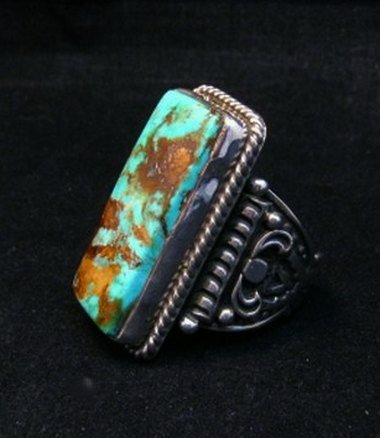 Image 1 of A++ Albert Jake Navajo Native American Royston Turquoise Ring sz9