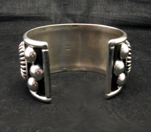 Image 4 of Native American Navajo Thomas Charley Silver Concho Bracelet