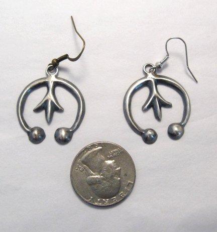 Image 7 of Mildred Parkhurst Navajo Mercury Dime Necklace & Naja Earrings Set