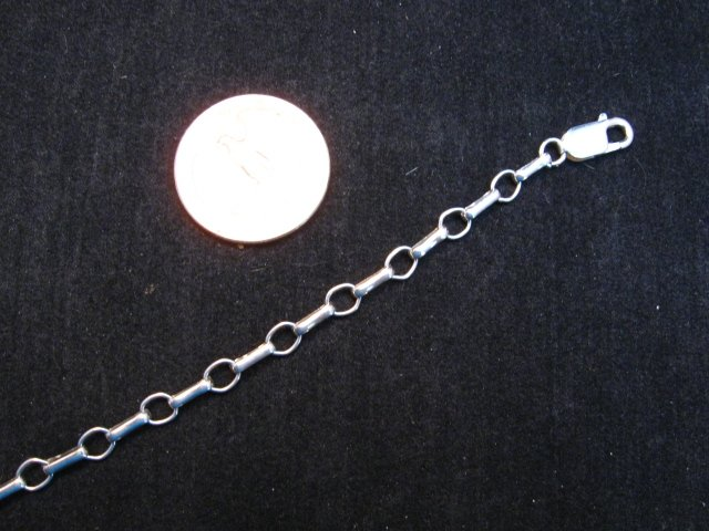 Image 2 of Sterling Silver 5mm Chain Necklace - various lengths