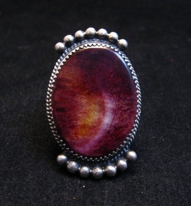 Image 0 of Navajo Purple Spiny Oyster Ring by Betty Joe sz7-3/4