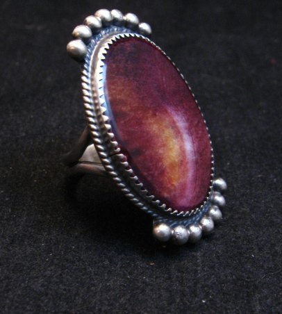 Image 1 of Navajo Purple Spiny Oyster Ring by Betty Joe sz7-3/4
