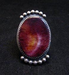 Navajo Purple Spiny Oyster Ring by Betty Joe sz7-3/4
