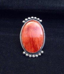 Betty Joe Navajo Orange Spiny Oyster Ring sz7-1/2