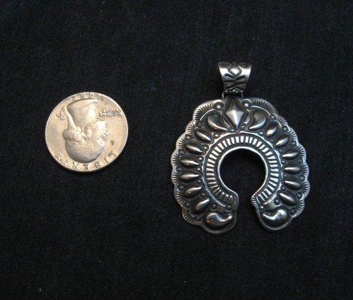 Image 3 of Navajo Native American Silver Naja Pendant, Darryl Becenti