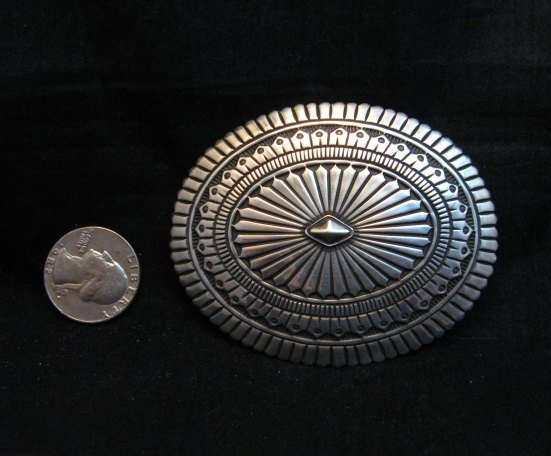 Image 1 of Tsosie Orville White Navajo Sterling Silver Belt Buckle