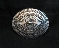 Tsosie Orville White Navajo Sterling Silver Belt Buckle