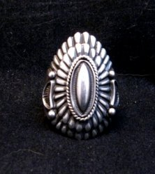 Navajo Harry H Begay Hammered Ingot Sterling Silver Ring sz12