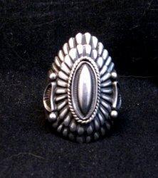 Navajo Harry Begay Hammered Ingot Sterling Silver Ring sz11-3/4