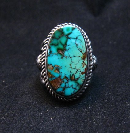 Image 0 of Albert Jake Navajo Natural Royston Turquoise Ring Sz8-1/2
