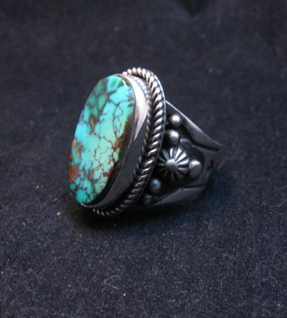 Image 1 of Albert Jake Navajo Natural Royston Turquoise Ring Sz8-1/2