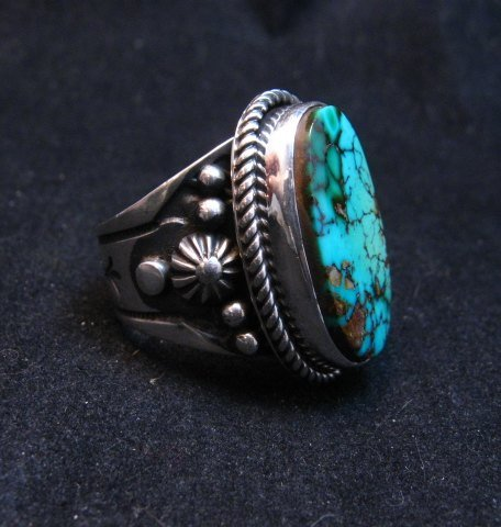 Image 2 of Albert Jake Navajo Natural Royston Turquoise Ring Sz8-1/2