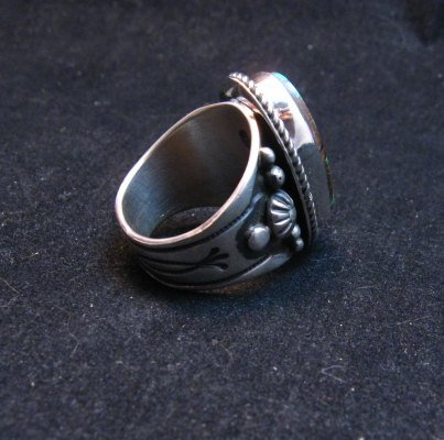 Image 3 of Albert Jake Navajo Natural Royston Turquoise Ring Sz8-1/2