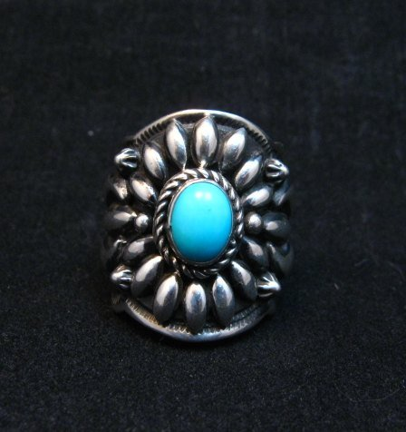 Image 0 of Darryl Becenti Navajo Sleeping Beauty Turquoise Ring sz8