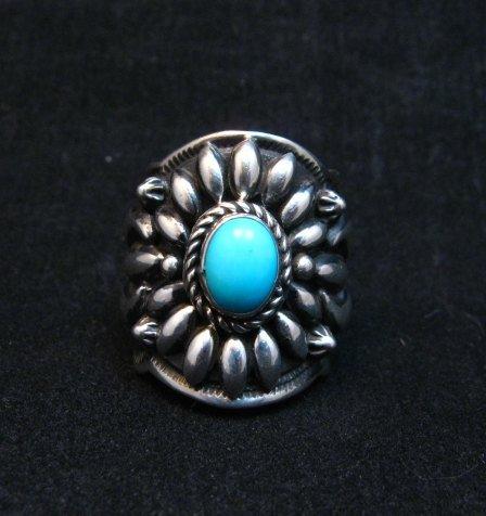 Image 0 of Darryl Becenti Navajo Sleeping Beauty Turquoise Ring sz8