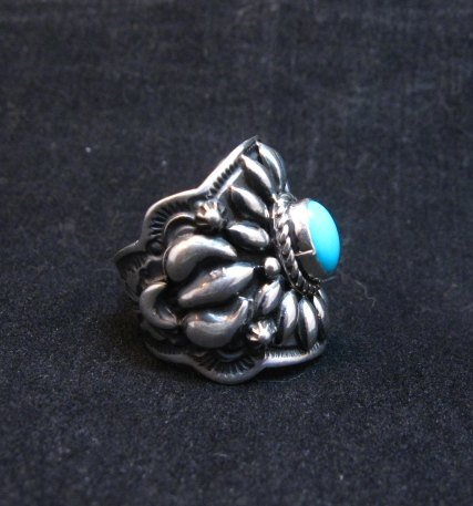 Image 1 of Darryl Becenti Navajo Sleeping Beauty Turquoise Ring sz8